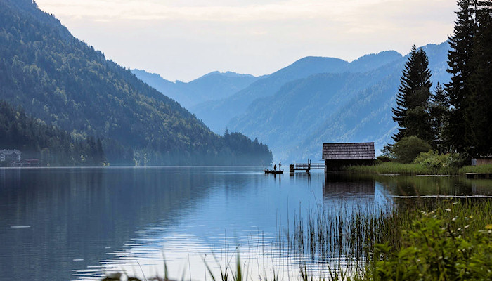 Lake Weissensee is the cleanest bathing lake of the Alps